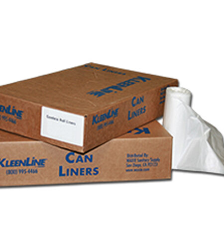 """30x37"""" HDPE Liners, natural, 8 mic (1000/case)"""