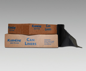 """40x46"""" HDPE Black Liners, natural, 1.3 mil (100/case)"""
